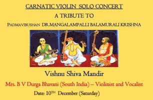 Carnatic Violin: A Tribute